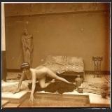 """Jules Richard (1848-1930) - Cliché tiré de la série """"Dans l'atrium"""""""